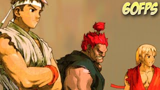 Marvel vs Capcom 2 - Ryu - Ken - Akuma Dreamcast Longplay 60FPS