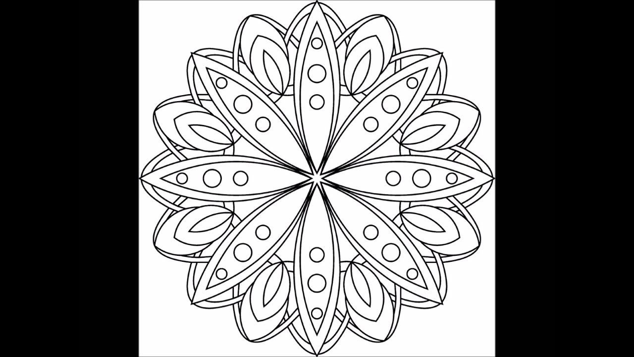 Simple Patterns Adult Coloring Book - Preview - YouTube