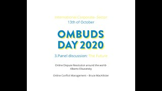 International Ombuds day 2020 Part  3