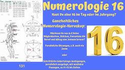 Ganzheitliche Numerologie - Die Zahl 16