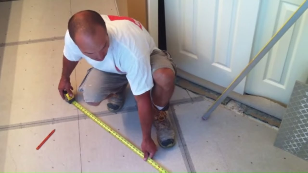 medium resolution of tile floor layout and installation tile coach episode 1