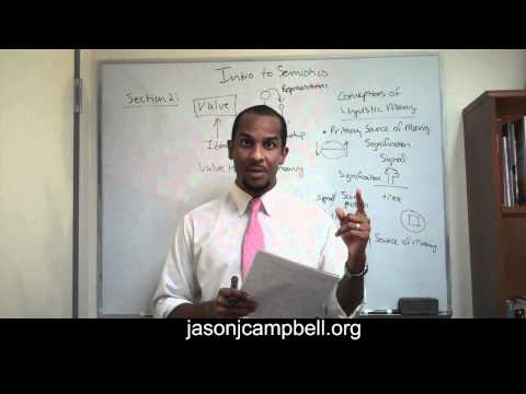 33. Section 2.0: Semiotics, Semiology, Sign and Saussure Lecture
