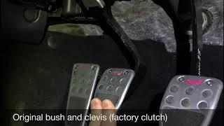 Subaru worn clutch pedal
