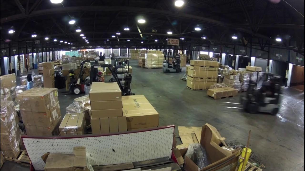 ups loading dock timelapse
