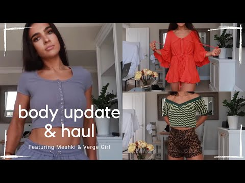 """BODY UPDATE & HAUL WITH MESHKI & VERGE GIRL """"HOW TO GET A FLAT TUMMY"""" 🤔 
