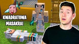 DOSTAŁEM SIĘ NA KWADRATOWĄ MASAKRĘ I... Zabiła Mnie Dziewczyna! Jeż Tritsus Minecraft