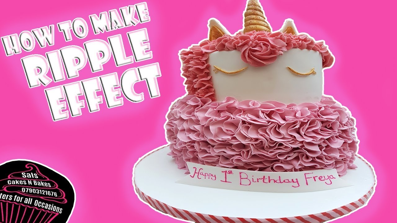 Fondant Ruffle Cake Tutorial Sals Cakes N Bakes Youtube