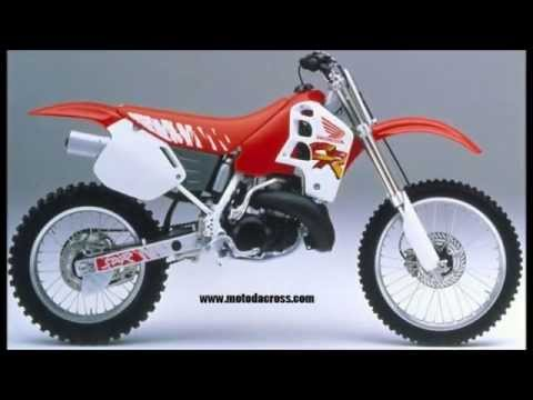 Evolution of Honda cr-500 from 1981 to 2001.