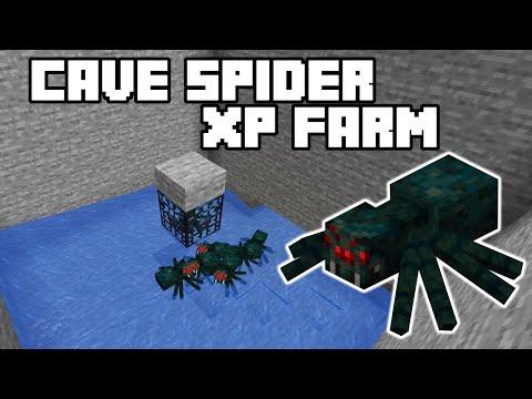 Cave Spider XP Farm - Minecraft 1.15/1.16 Tutorial (Java Edition)