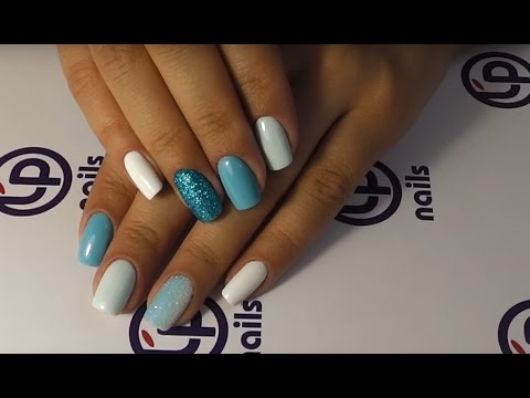 Как пользоваться блестками для ногтей видео