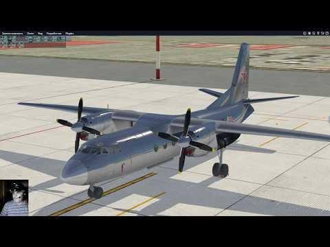 Ан-24. X-Plane 11. Небольшой допил.