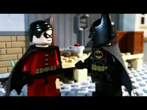 Lego Batman and Robin (stop motion animation / brickfilm) comedy film