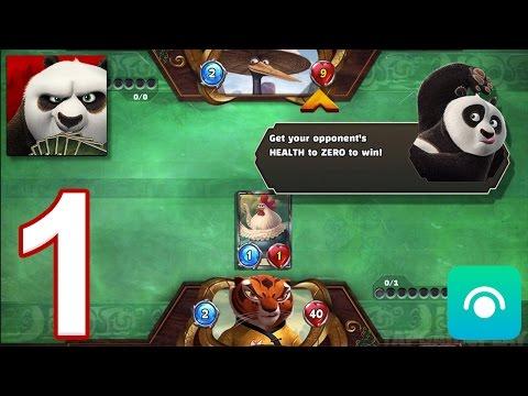 Kung Fu Panda: Battle Of Destiny - Gameplay Walkthrough Part 1 - Tigress Basic Deck (iOS, Android)