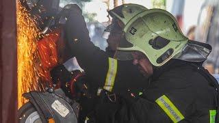 Ликвидация последствий пожара в районе «Отрадное» г. Москвы
