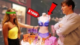 Buying EVERYTHING My Girlfriend Touches Blindfolded - Challenge