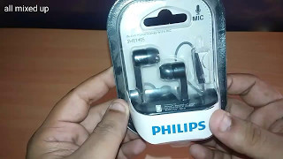 Philips SHE1405 in-ear headphone unbox and review