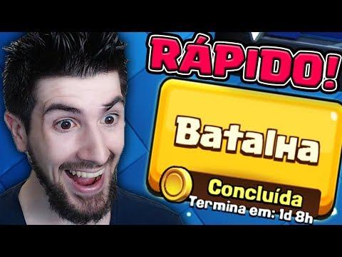 TERMINANDO A CORRIDA DO OURO RÁPIDO NO CLASH ROYALE!