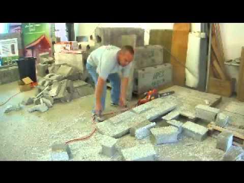 Installing a door in apex block icf icfs insulated for Apex block homes
