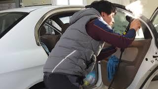 자동차 썬팅 필름 뜯는방법 집에서 쓰는 스팀청소기로 쉽…