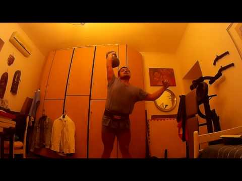 36 kg kettlebell press 30 minutes half marathon