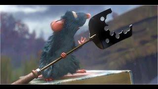 САП-фрагмент из мультфильма Рататуй, SUP saves mice