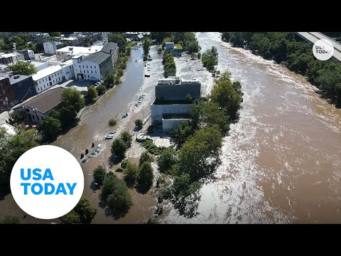 Drone footage shows devastating flooding in Philadelphia | USA TODAY