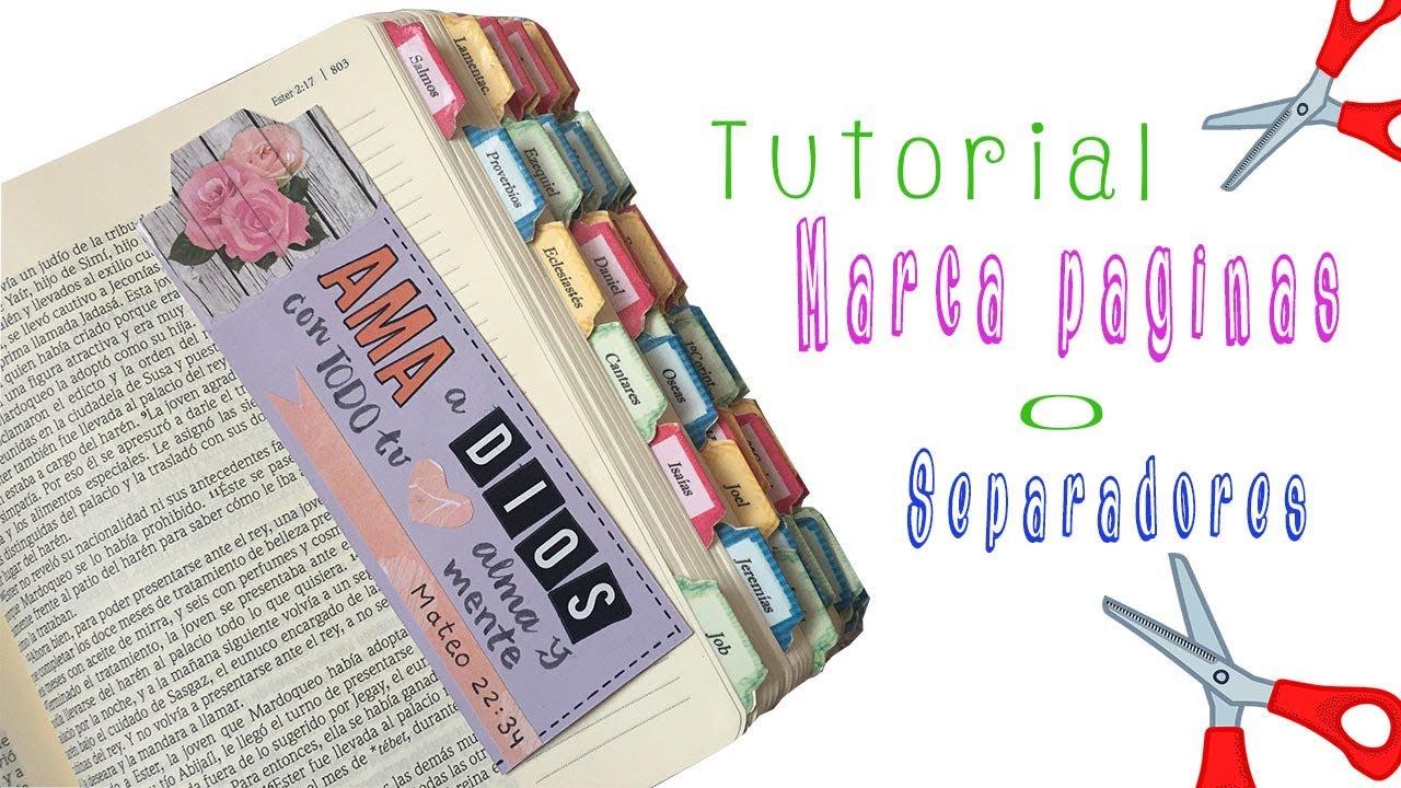 Como hacer un Marca páginas para Biblia DIY - YouTube