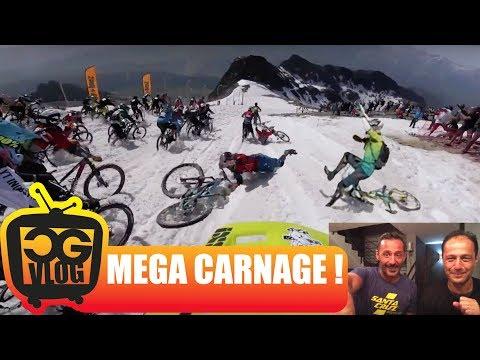 MEGA CARNAGE at MEGAVALANCHE 2017 Alpe d'Huez - Multi Cam w/ Commentary - CG VLOG #190
