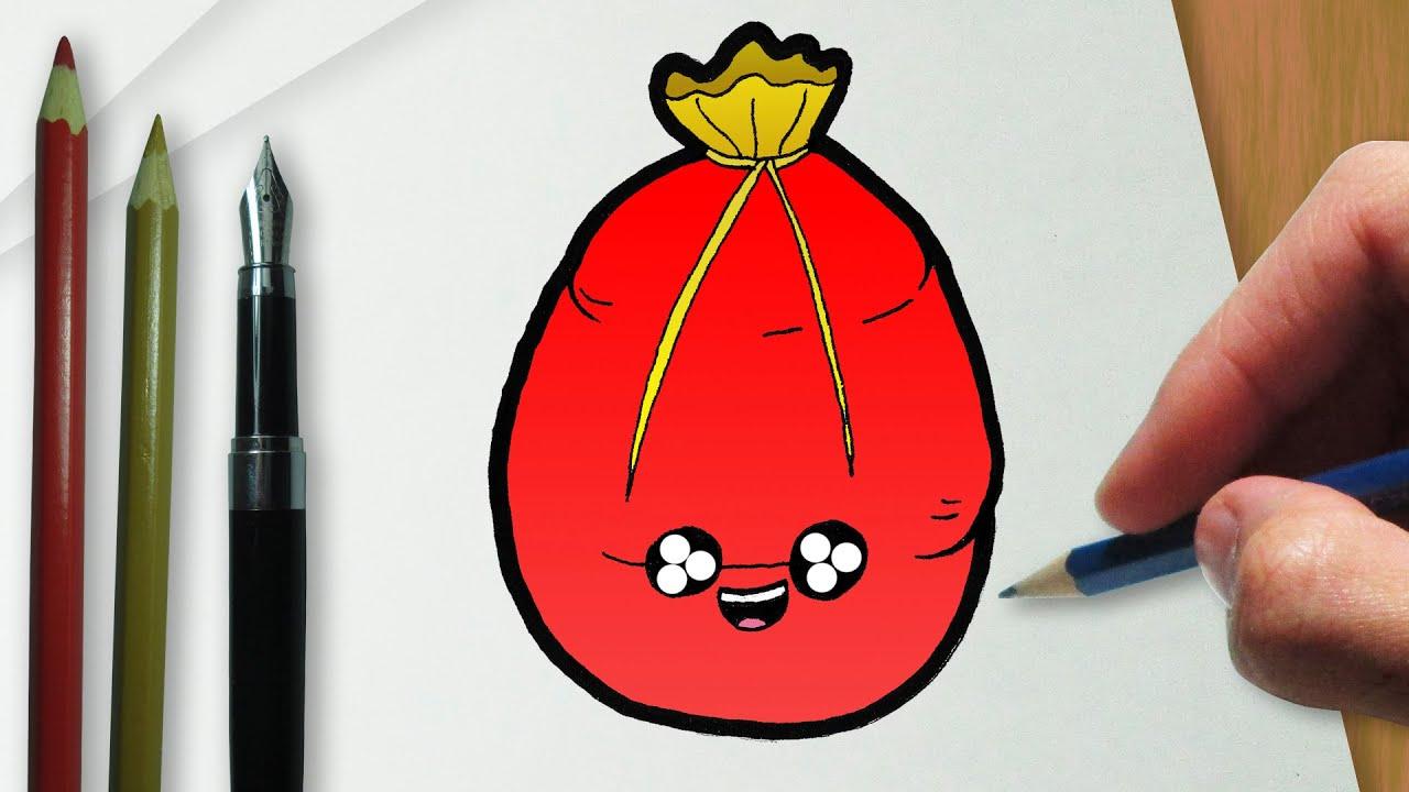 Como Desenhar Um Saco De Presentes Do Papai Noel