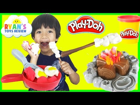 Play Doh Campfire Picnic Playset Fun Playdough Toys For Kids Ryan ToysReview