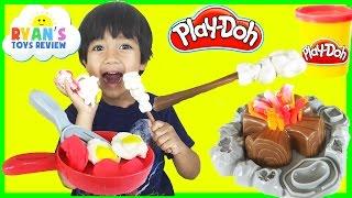 Play Doh Campfire Picnic Playset Fun Playdough toys for kids Ryan ToysReview