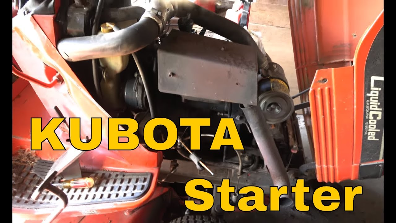 kubota mower replace starter