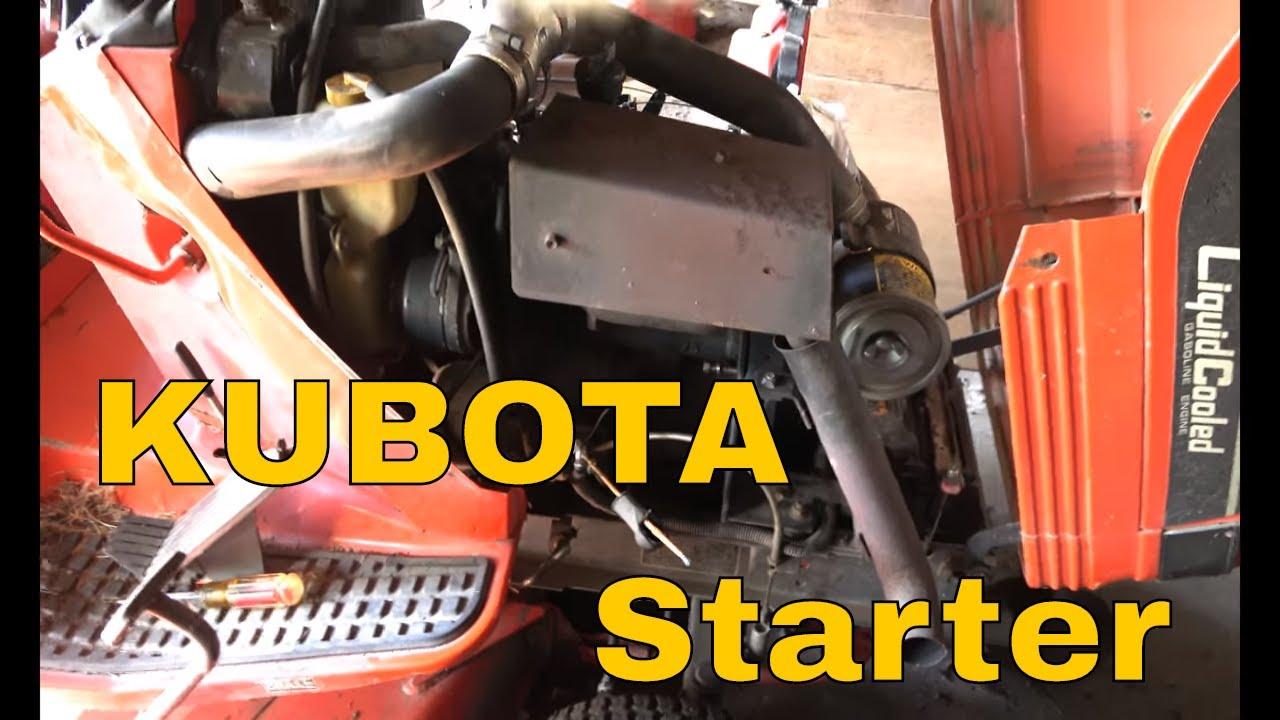 Kubota Mower Replace Starter