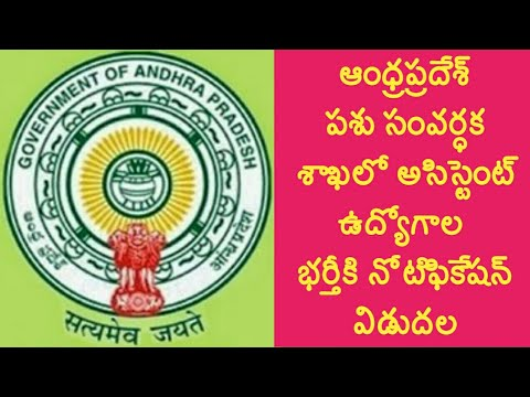 Andhra pradesh animal husbandry veterinary assistant surgeon recruitment|ap backlog posts recruitmen