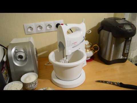 Замешиваем тесто на шарлотку миксером Bosch MFQ3555