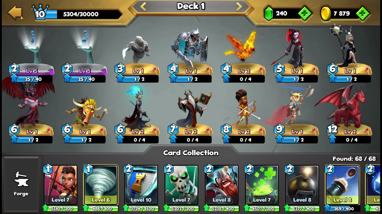 Castle Crush 😂  All Legendary Cards In One Deck  - 🔥 GamePlay Lvl 10 🔥 RGame #2