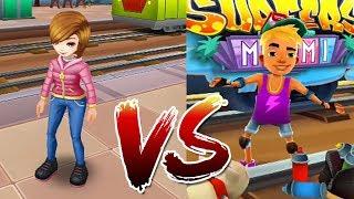 princess vs nick - subway surfers miami vs subway princess runner