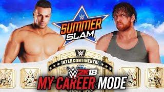WWE 2K18 My Career Mode - Ep 28 - INTERCONTINENTAL TITLE MATCH!!