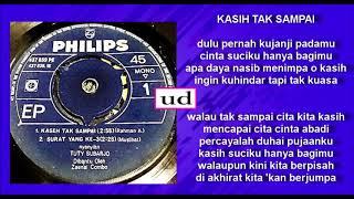 Tuty Subarjo & Zaenal Combo - Kasih Tak Sampai (Rahman A) - April 1968