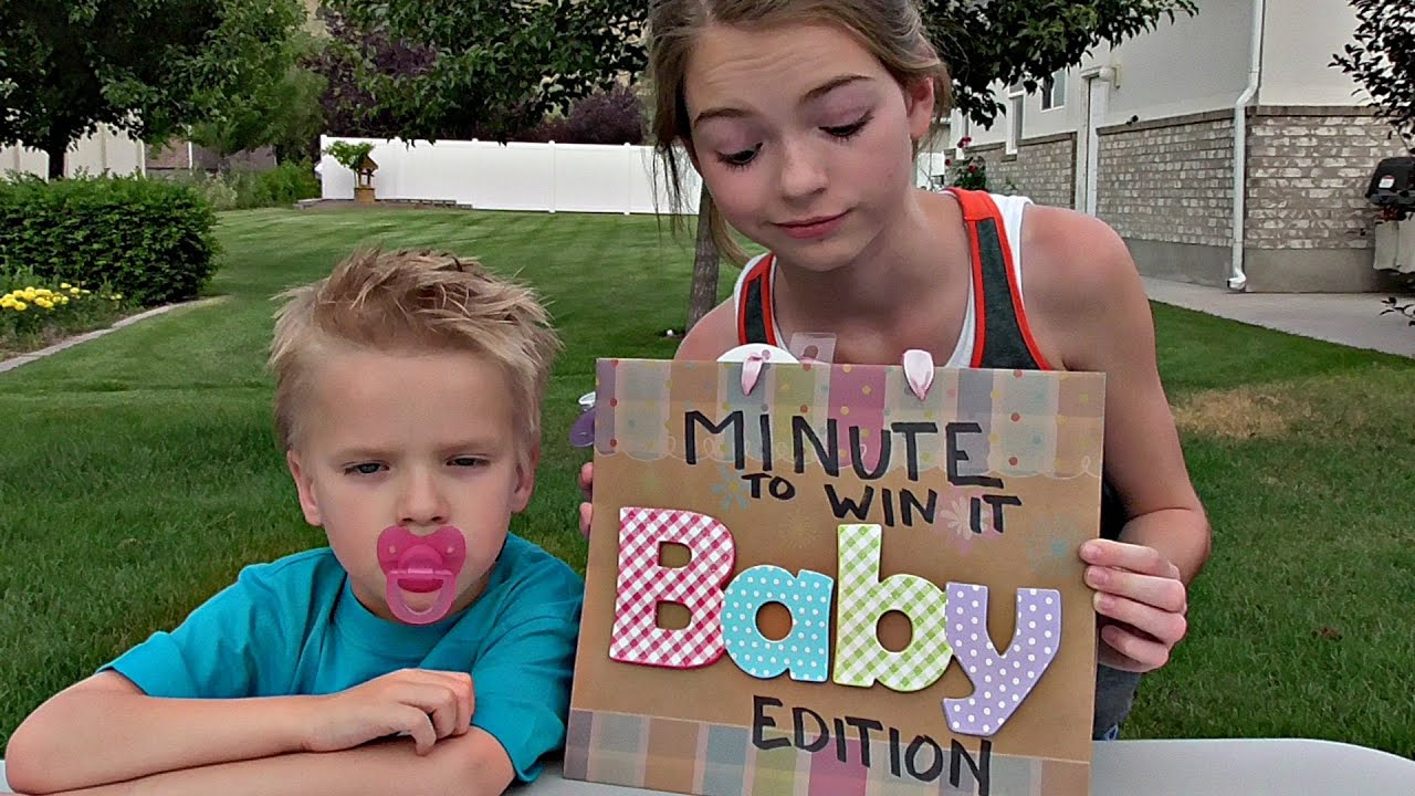 Attractive Minute To Win It: Baby Edition!   YouTube