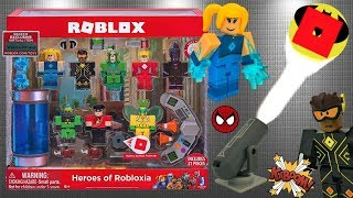 Roblox Toy Heroes of Robloxia, Unboxing & Toy Review, Code Item, Superheroes