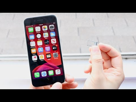 How To Put Sim Card Into iPhone SE (2020)! - YouTube