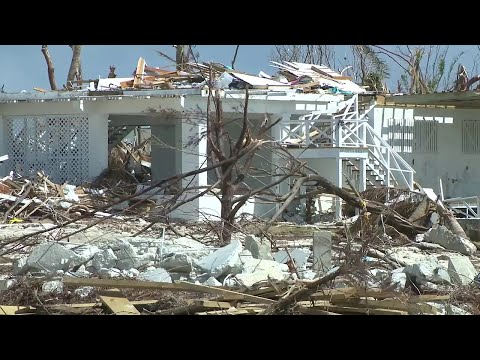 Damage still seen across Marsh Harbour one month after Hurricane Dorian
