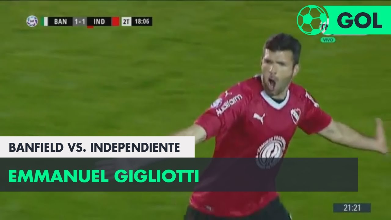 Emmanuel Gigliotti (1-1) Banfield vs Independiente | Fecha 6 - Superliga Argentina 2018/2019