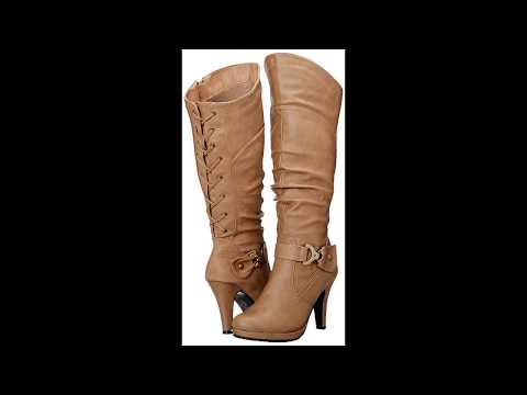 86b66a1c467 Top Moda Women s Knee Lace-up High Heel Boots - User Review GOOD NIGHT