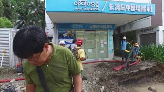 Boracay Closure Update Day 93.Clearing all the dirt(station 2 main rd.)