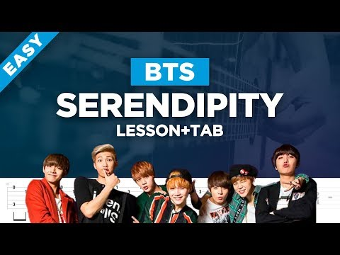 🎸 BTS JIMIN serendipity acoustic guitar cover + lesson with tabs