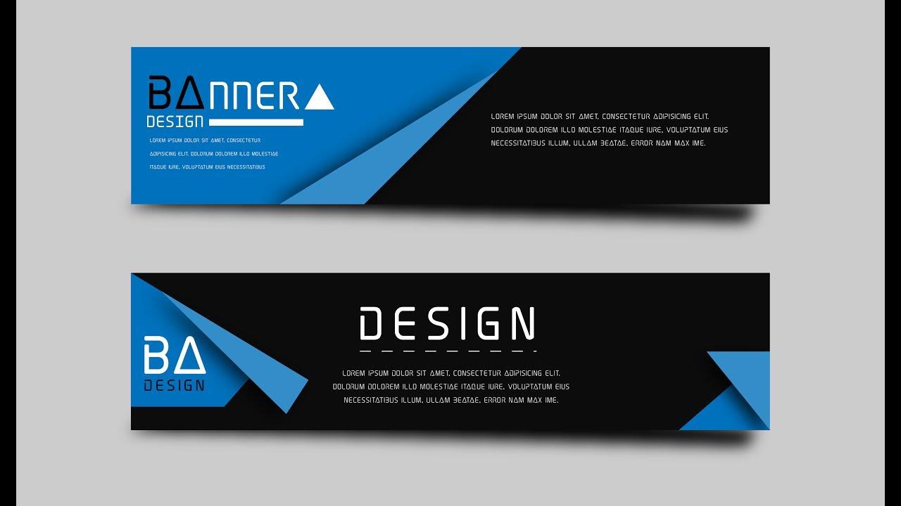Design banner minimalist - Creating Banner Vector Minimalist Origami Using Adobe Illustrator