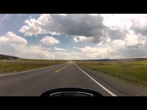 Ride through Yellowstone NP. Canyon Village to Fishing Bridge (Bisons)