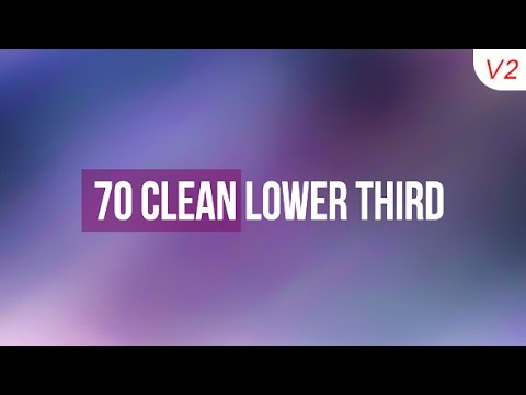 70 Clean Lower Third After Effects Template Youtube